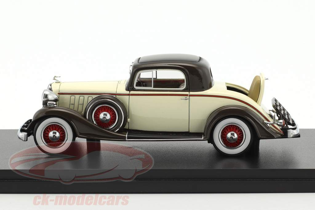 Buick Series 66 Sport coupe year 1933 beige / brown 1:43 Neo
