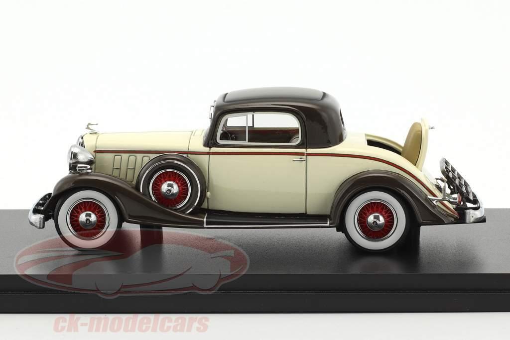 Buick Series 66 Sport Coupe Baujahr 1933 beige / braun 1:43 Neo