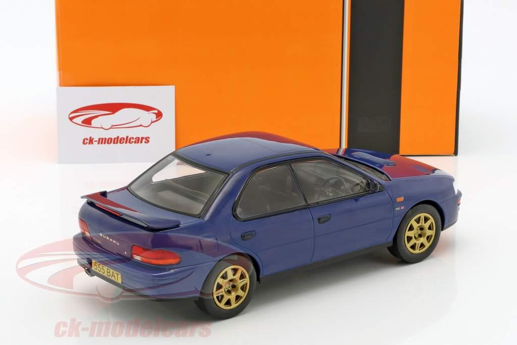Subaru Impreza WRX RHD year 1995 blue 1:18 Ixo