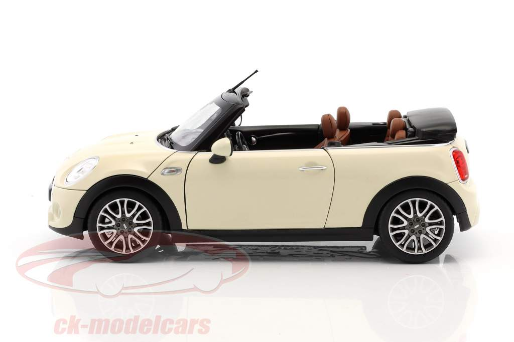 Mini Cooper S Cabriolet (F57) year 2016 pepper white 1:18 Norev