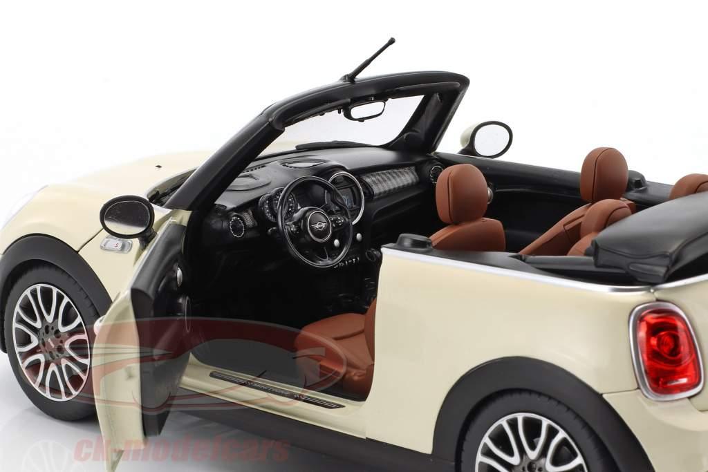 Mini Cooper S Cabriolet (F57) Baujahr 2016 pfefferweiß 1:18 Norev