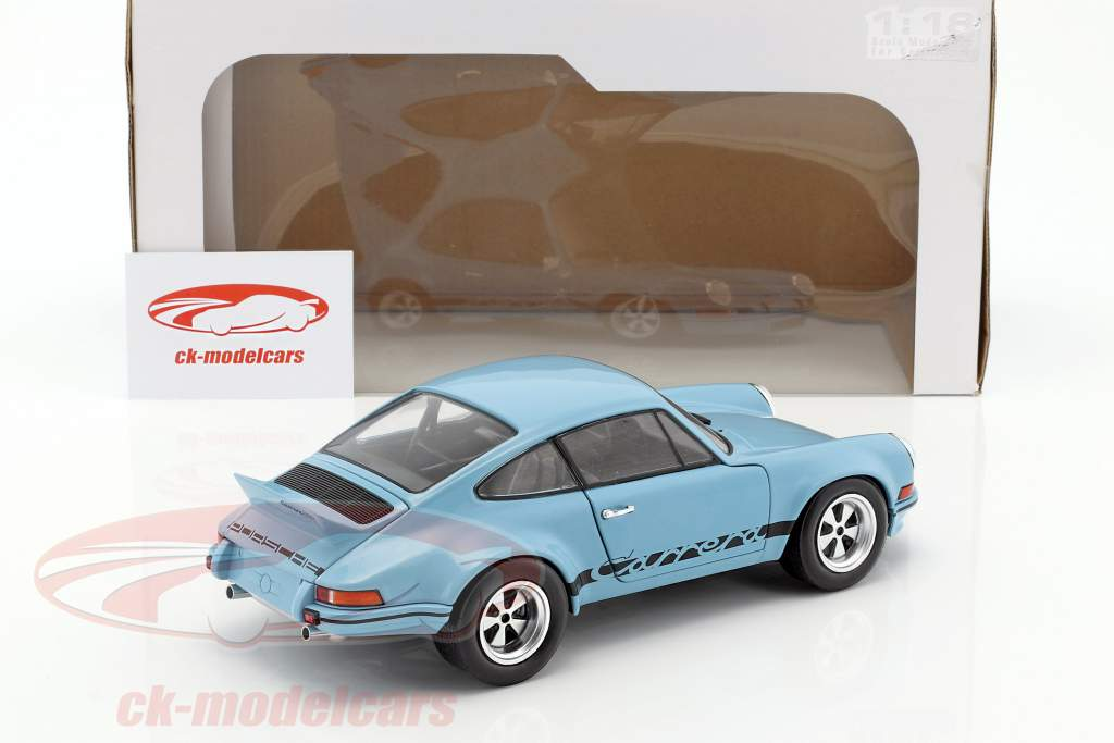 Porsche 911 Carrera RSR 2.8 year 1974 light blue 1:18 Solido