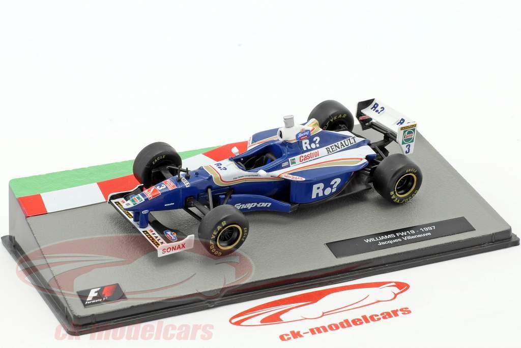 jacques villeneuve williams fw19 3 champion du monde formule 1 1997 1 43 altaya ebay. Black Bedroom Furniture Sets. Home Design Ideas