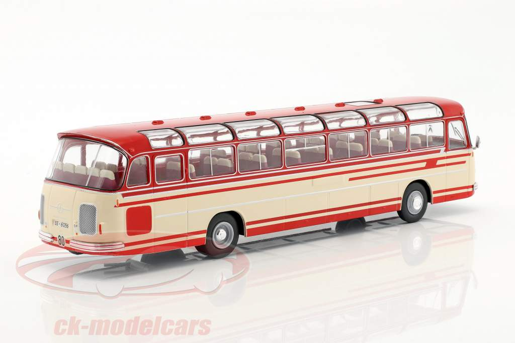 Setra S14 bus year 1966 beige / red 1:43 Ixo