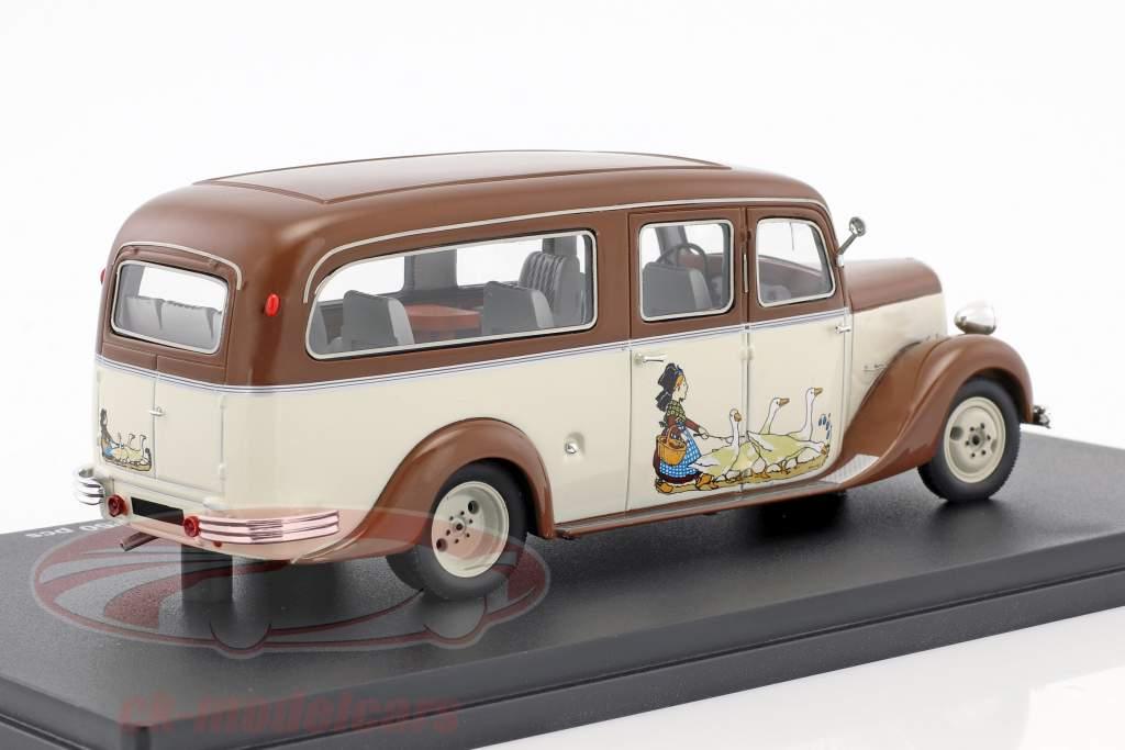 Citroen U23 autobus Tourisme anno di costruzione 1948 marrone / beige 1:43 Momaco