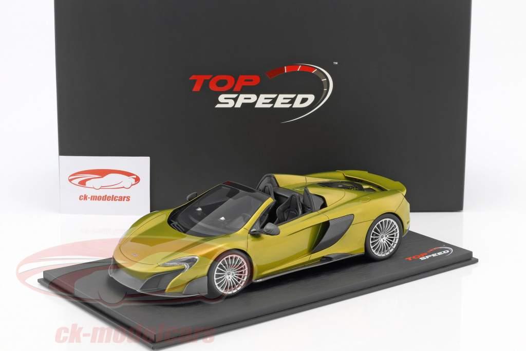 McLaren 675LT Spider solis verde 1:18 True Scale