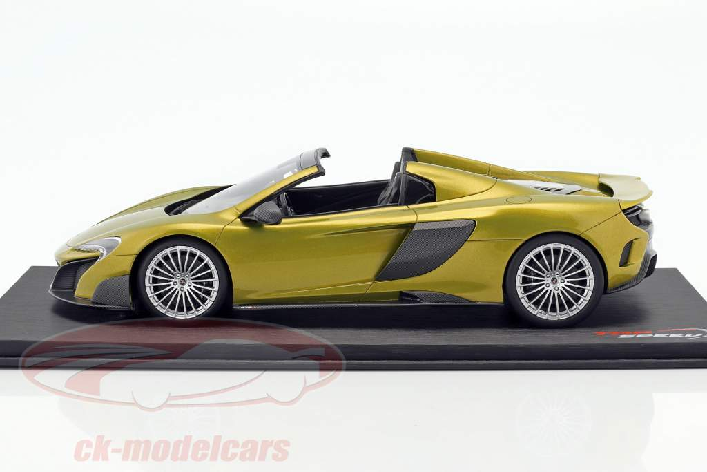 McLaren 675LT Spider solis vert 1:18 True Scale