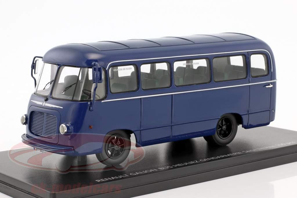 Renault Galion 2,5t Heuliez Bus Gendarmerie Baujahr 1959 blau 1:43 Momaco
