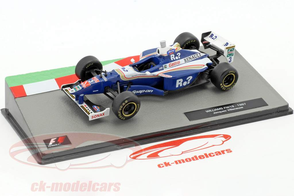 Jacques Villeneuve Williams FW19 #3 World Champion formula 1 1997 1:43 Altaya