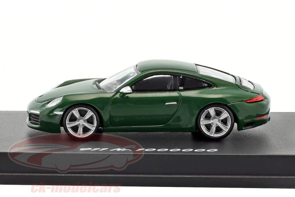 Porsche 911 (991 II) Carrera S 1000000th Porsche 911 2017 green 1:87 Spark