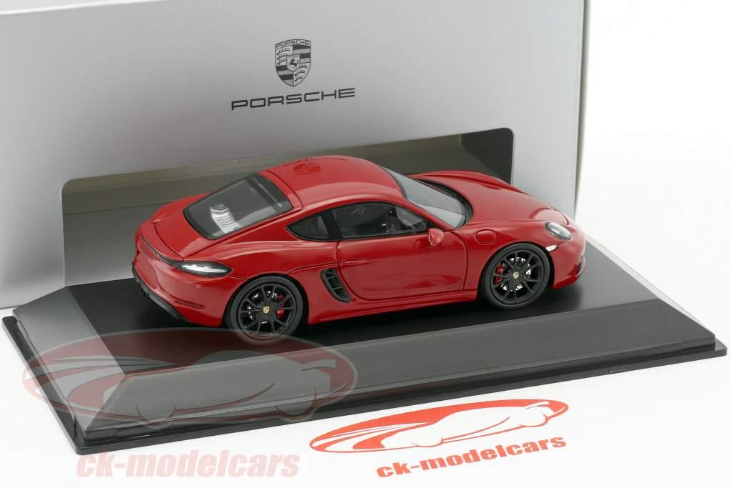 Porsche 718 Cayman GTS (982) carmine red / black 1:43 Spark