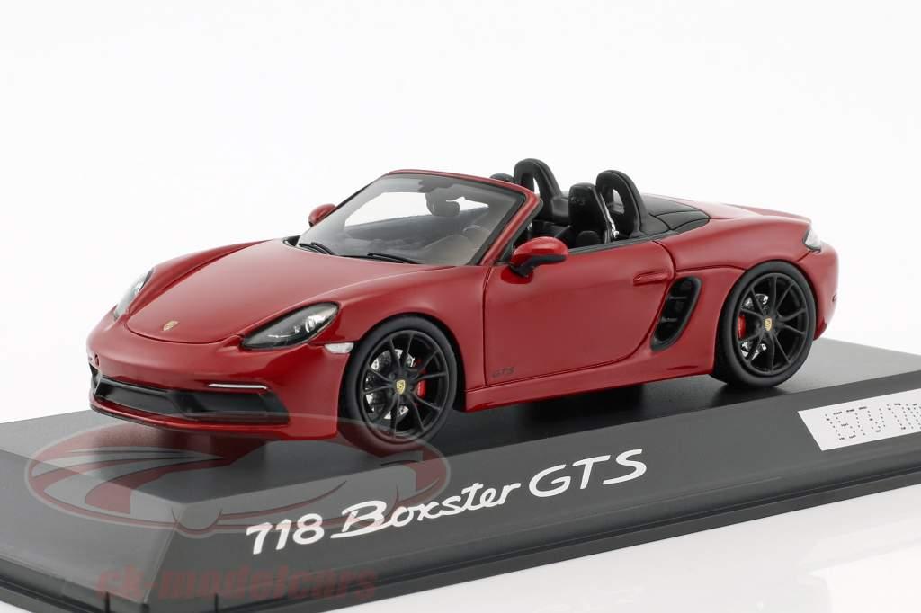 Porsche 718 Boxster GTS (982) carminio rosso / nero 1:43 Spark