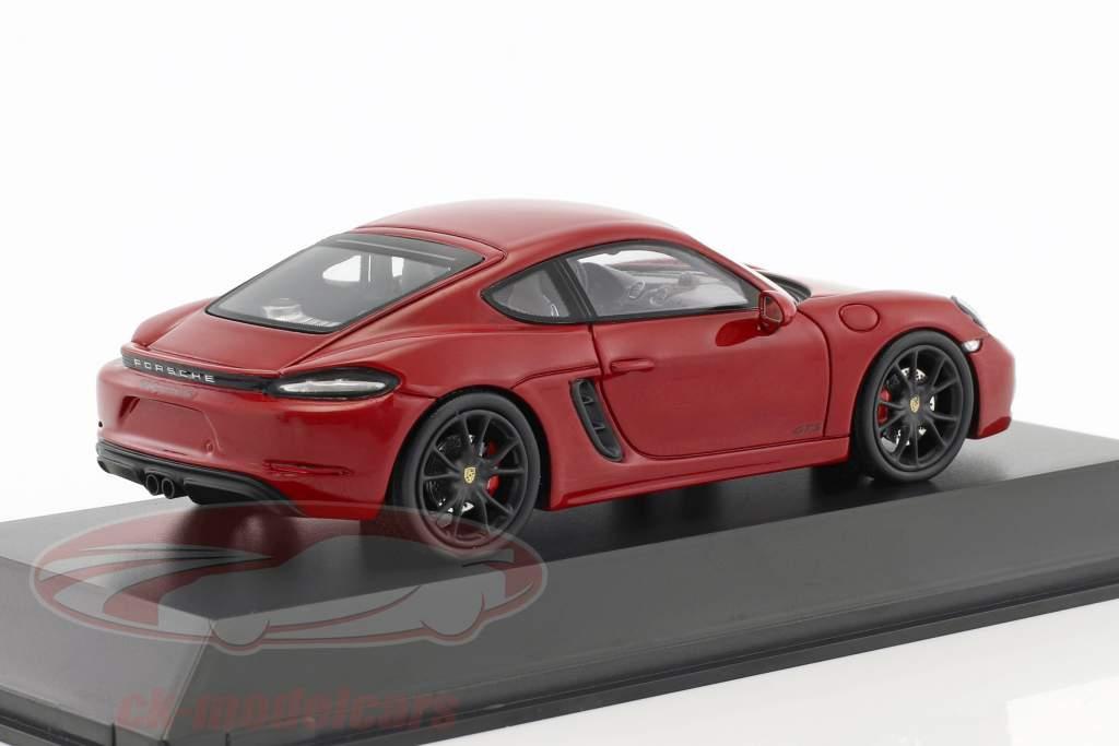 Porsche 718 Cayman GTS (982) karminrot / schwarz 1:43 Spark
