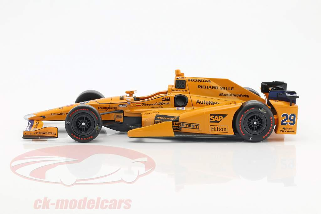 Fernando Alonso Indycar Honda #29 Indy 500 2017 1:18 Greenlight