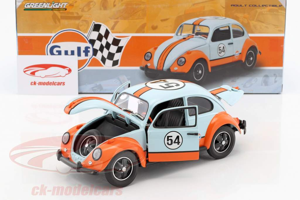 Volkswagen VW Beetle #54 Gulf Oil Racer gulf blue 1:18 Greenlight