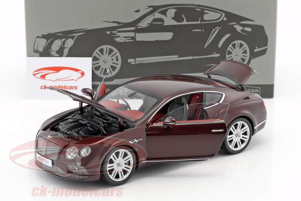Bentley Continental GT RHD Baujahr 2016 weinrot 1:18 Paragon Models