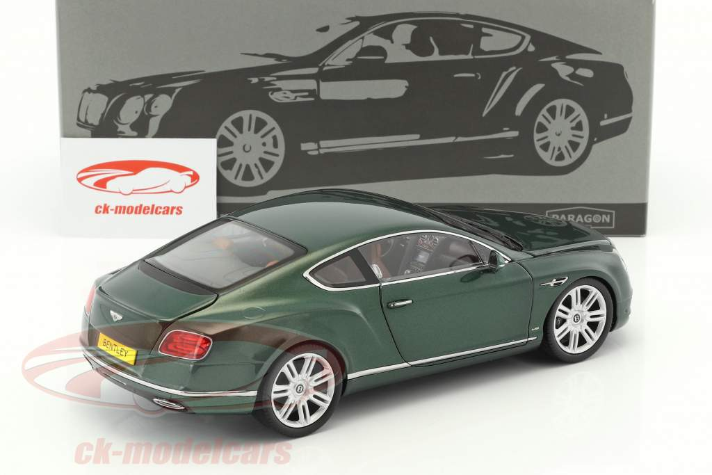Bentley Continental GT LHD year 2016 green 1:18 Paragon Models