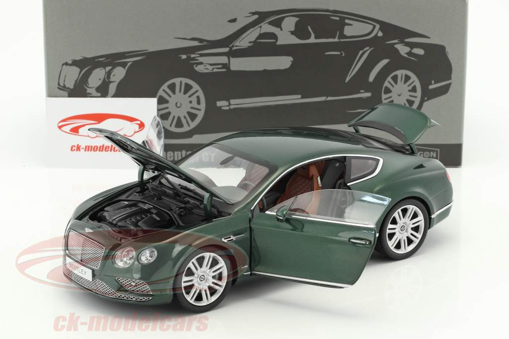 Bentley Continental GT LHD Baujahr 2016 grün 1:18 Paragon Models