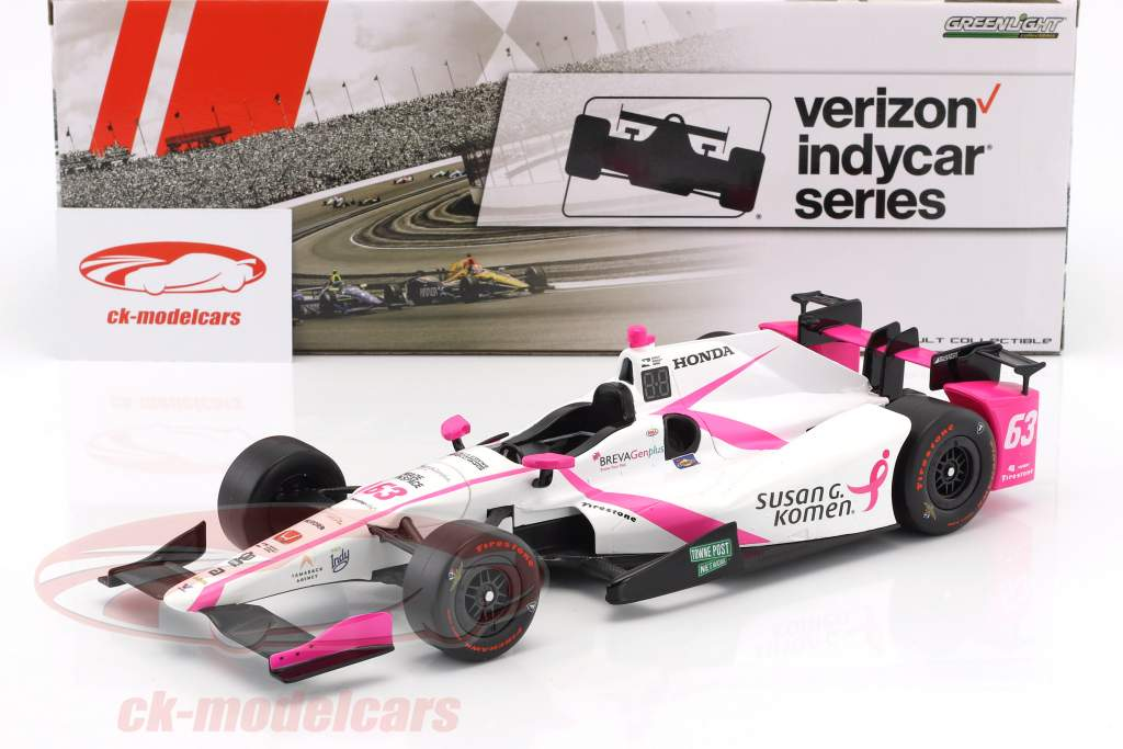 Pippa Mann Honda #63 IndyCar Series 2017 1:18 Greenlight