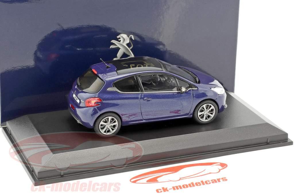 Peugeot 208 blu scuro metallico 1:43 Norev