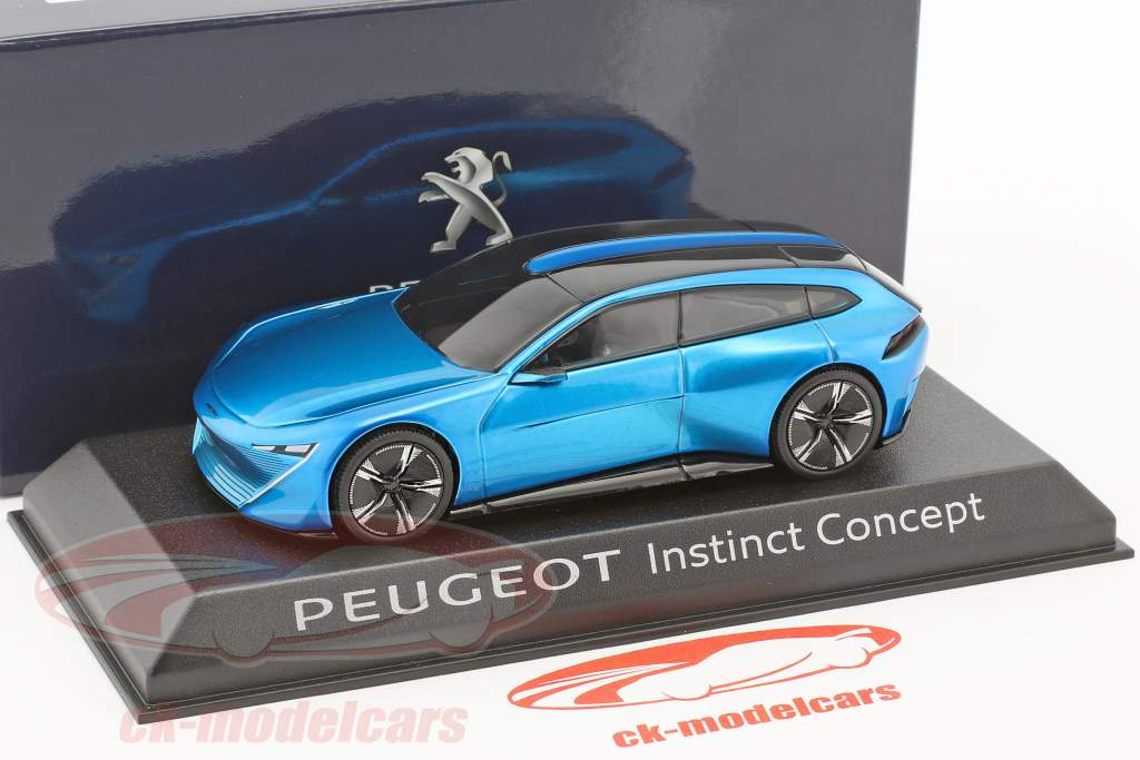 Peugeot Instinct Concept Car year 2017 blue metallic 1:43 Norev