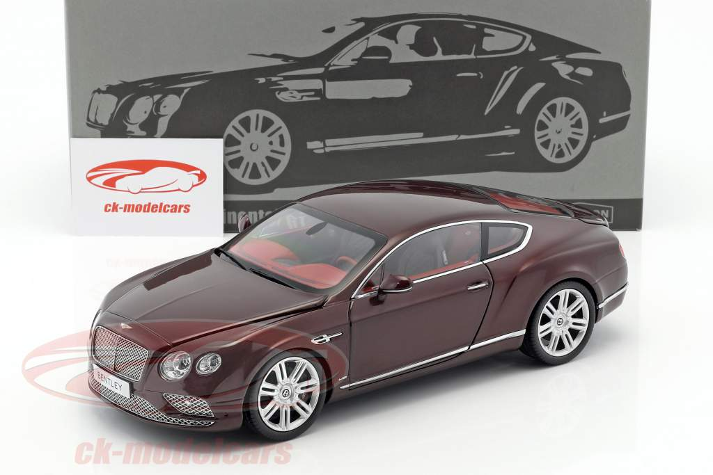 Bentley Continental GT LHD year 2016 burgundy 1:18 Paragon Models