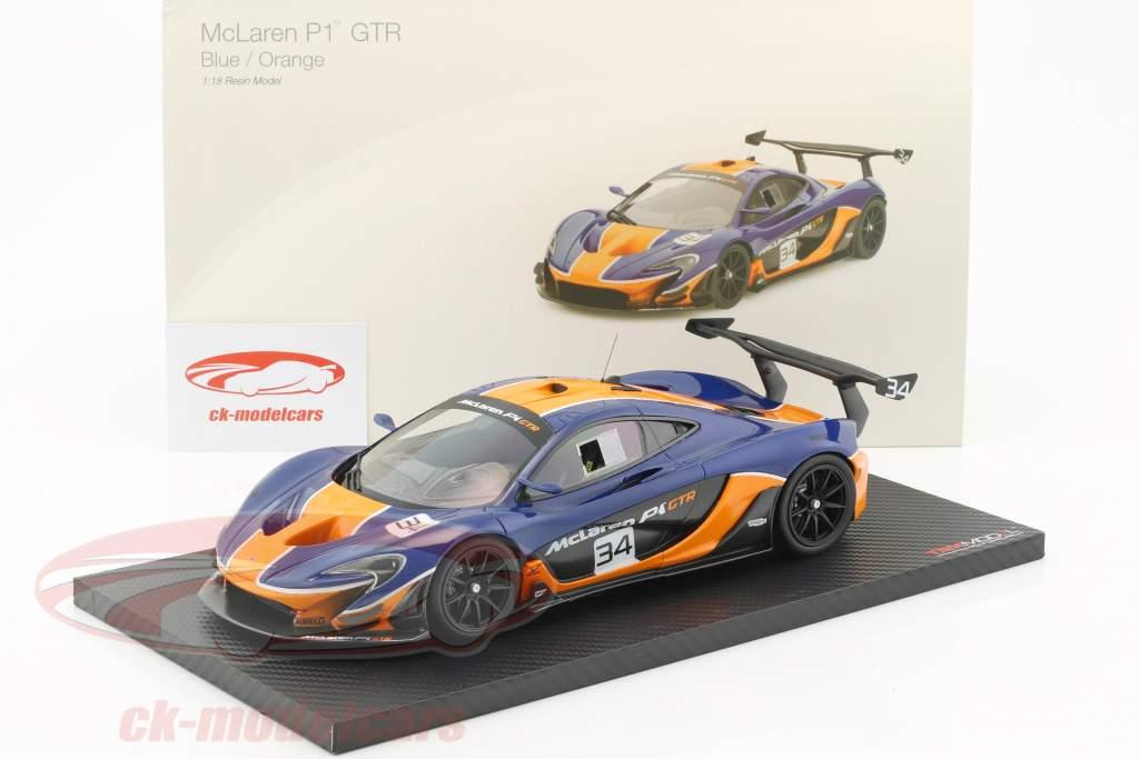 McLaren P1 GTR #34 blu / arancione 1:18 TrueScale