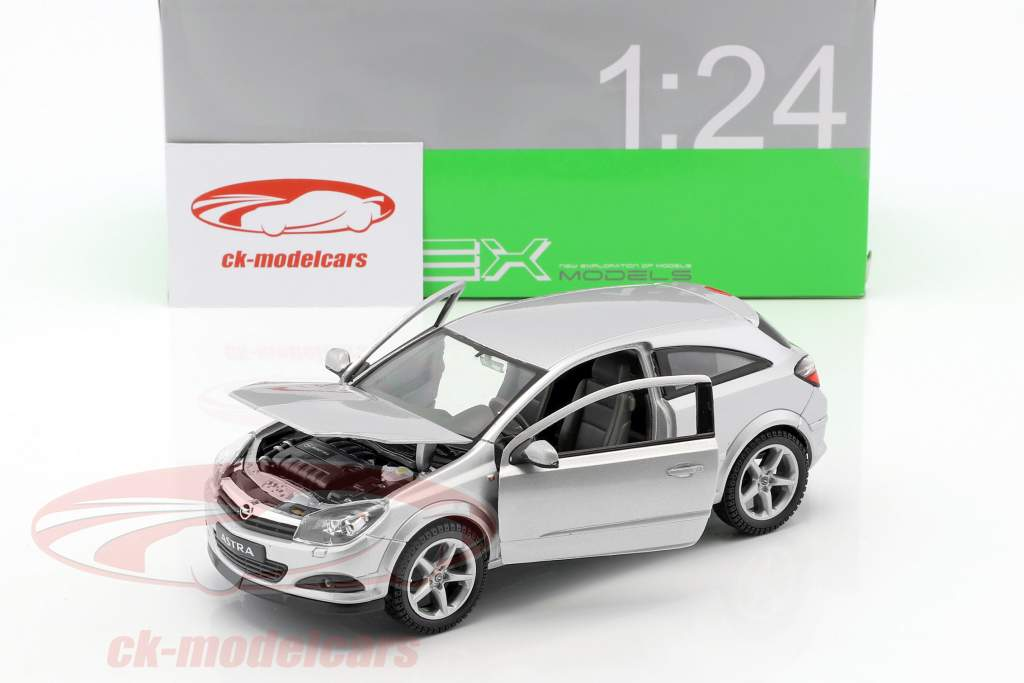 Opel Astra GTC year 2005 silver 1:24 Welly