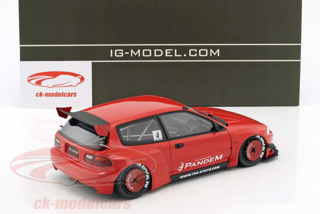 Pandem Civic (EG6) red 1:18 Ignition Model
