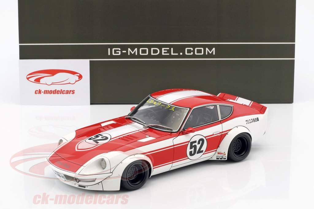 LB-Works Fairlady Z (S30) #52 rosso / bianco 1:18 Ignition Model