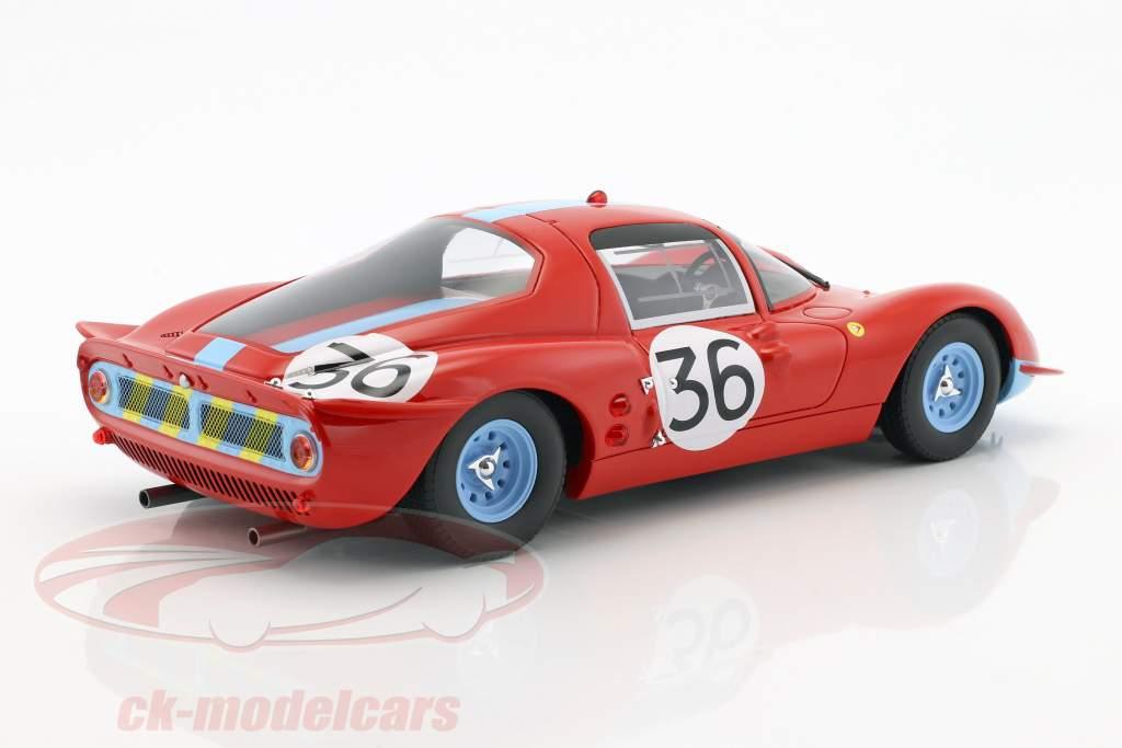 Ferrari Dino 206S #36 24h LeMans 1966 Salmon, Hobbs 1:18 CMR