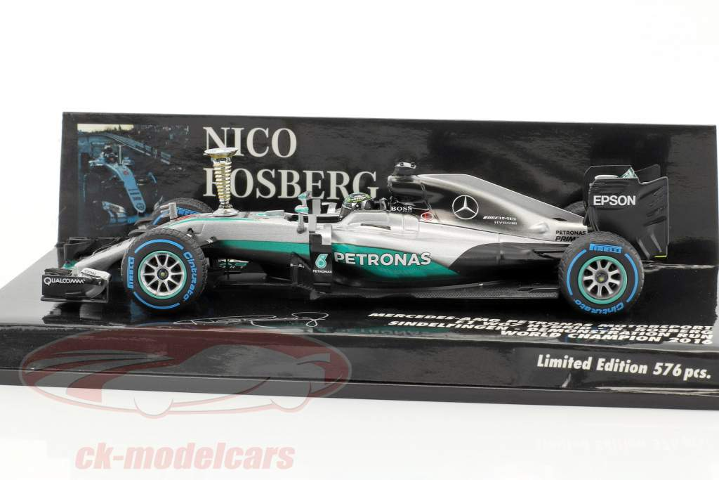 Nico Rosberg Mercedes F1 W07 Hybrid #6 Sindelfingen Demo Run World Champion F1 2016 1:43 Minichamps
