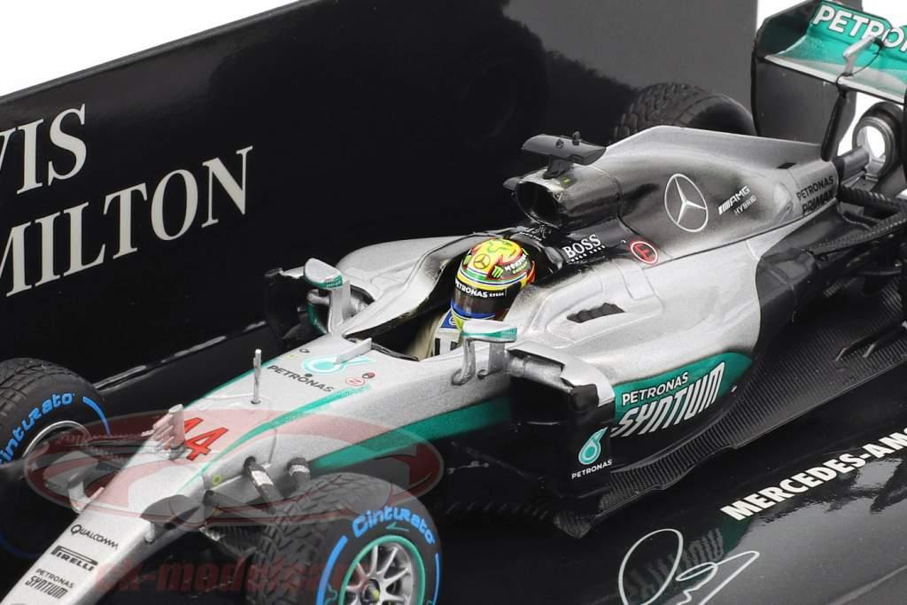 Lewis Hamilton Mercedes F1 W07 Hybrid #44 Winner Brazilian GP formula 1 2016 1:43 Minichamps