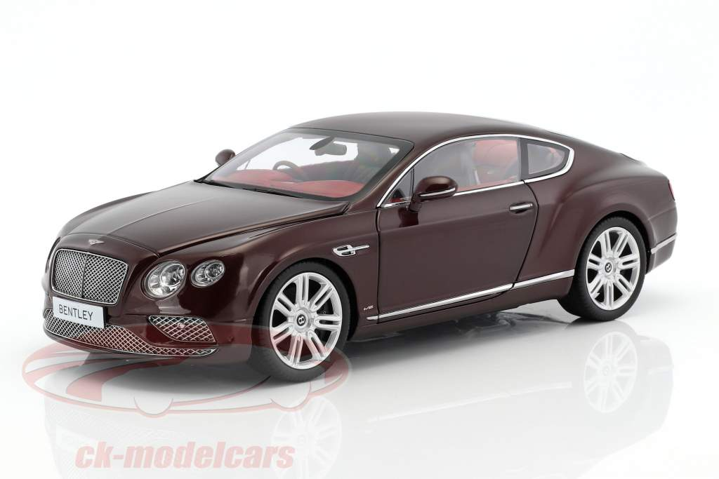 Bentley Continental GT RHD year 2016 burgundy 1:18 Paragon Models