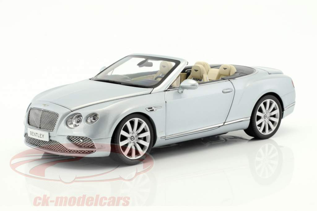 Bentley Continental GT Convertible LHD year 2016 silver 1:18 Paragon Models
