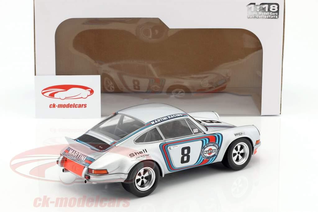 Porsche 911 RSR Martini Racing #8 gagnant Targa Florio 1973 Müller, van Lennep 1:18 Solido