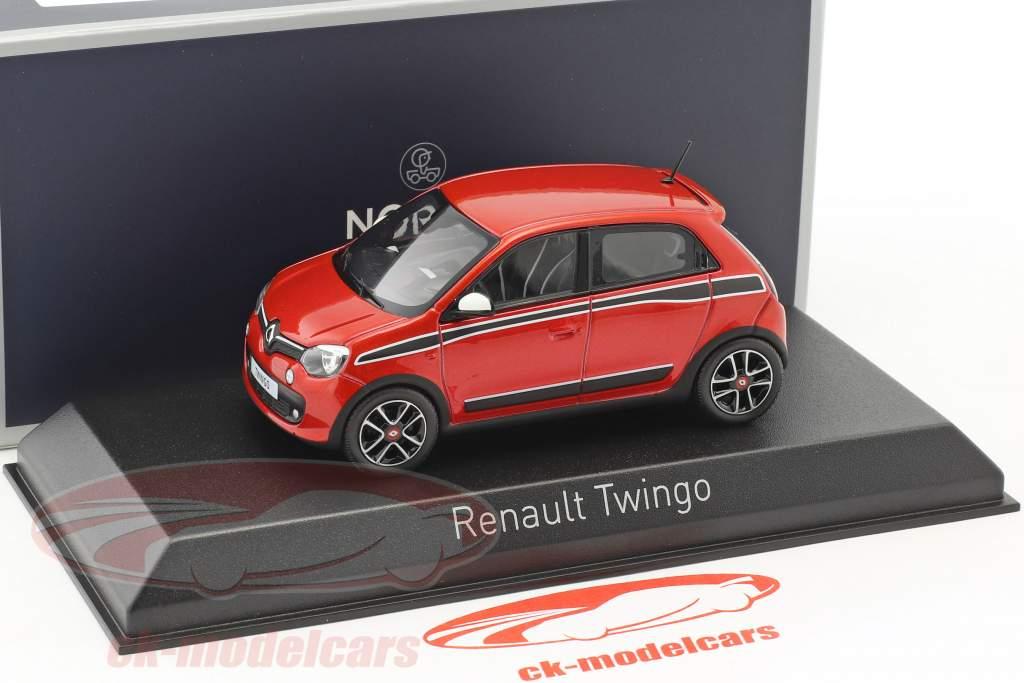Renault Twingo Sport Pack anno di costruzione 2014 rosso metallico / nero 1:43 Norev