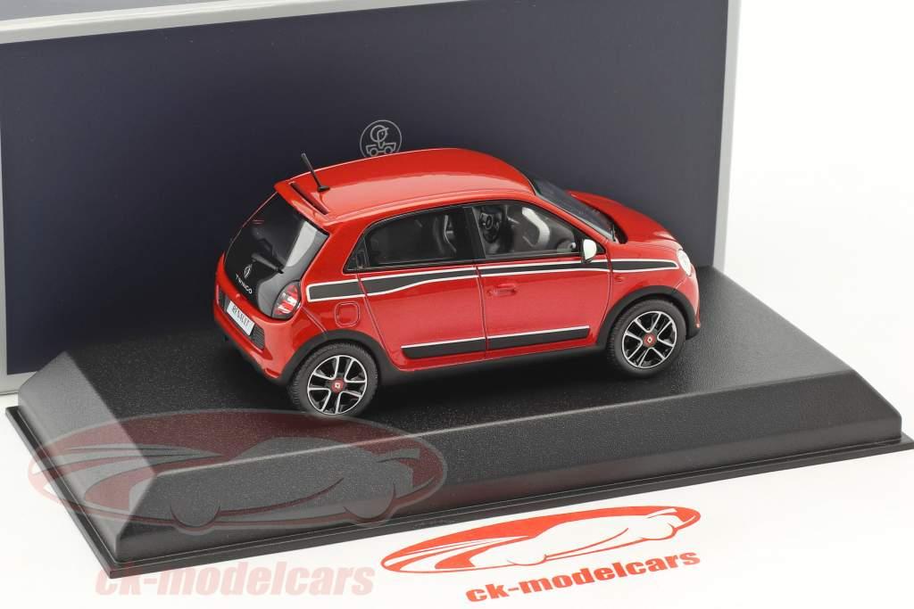 Renault Twingo Sport Pack Baujahr 2014 rot metallic / schwarz 1:43 Norev