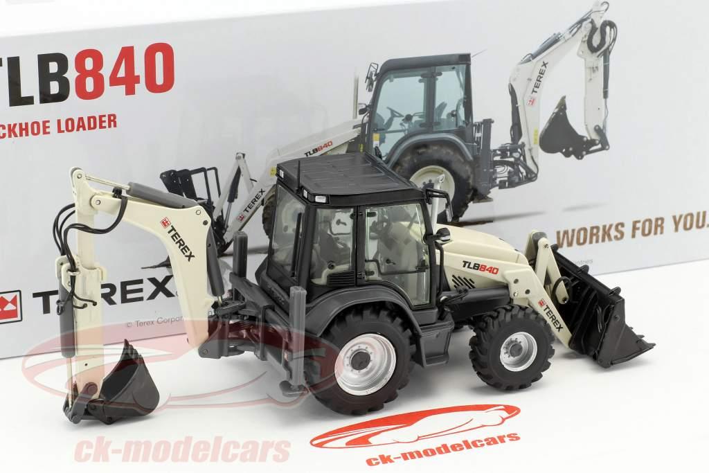 Terex TLB840 Baggerlader bianco 1:50 NZG
