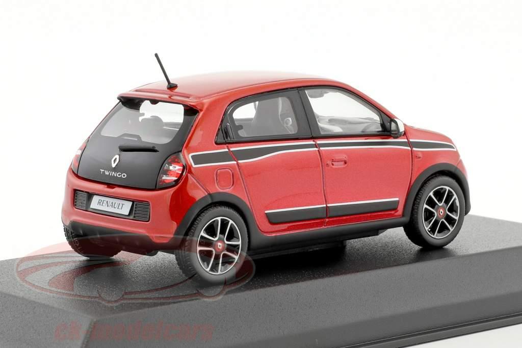 Renault Twingo Sport Pack year 2014 red metallic / black 1:43 Norev