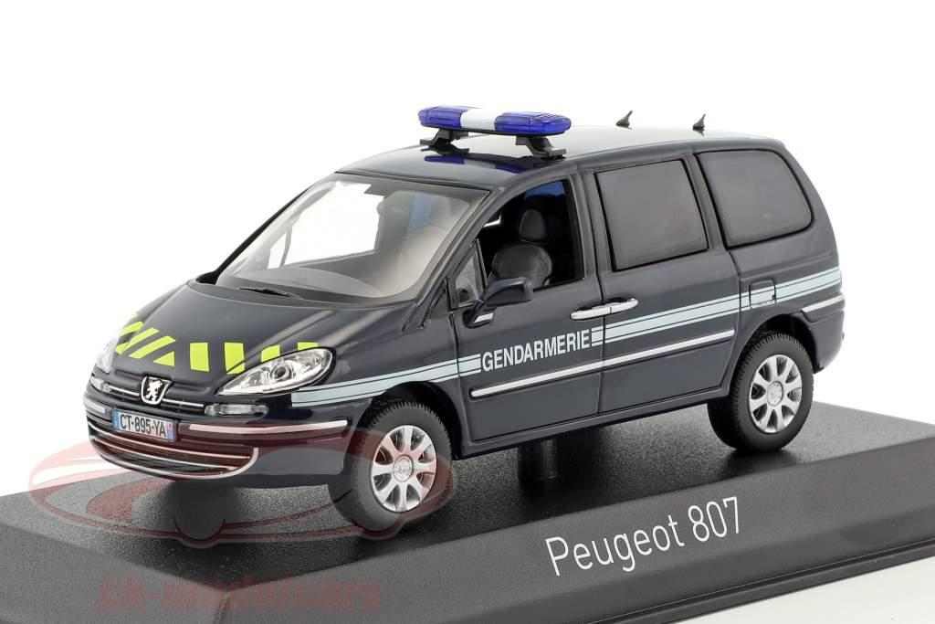 Peugeot 807 gendarmeria anno di costruzione 2013 blu 1:43 Norev