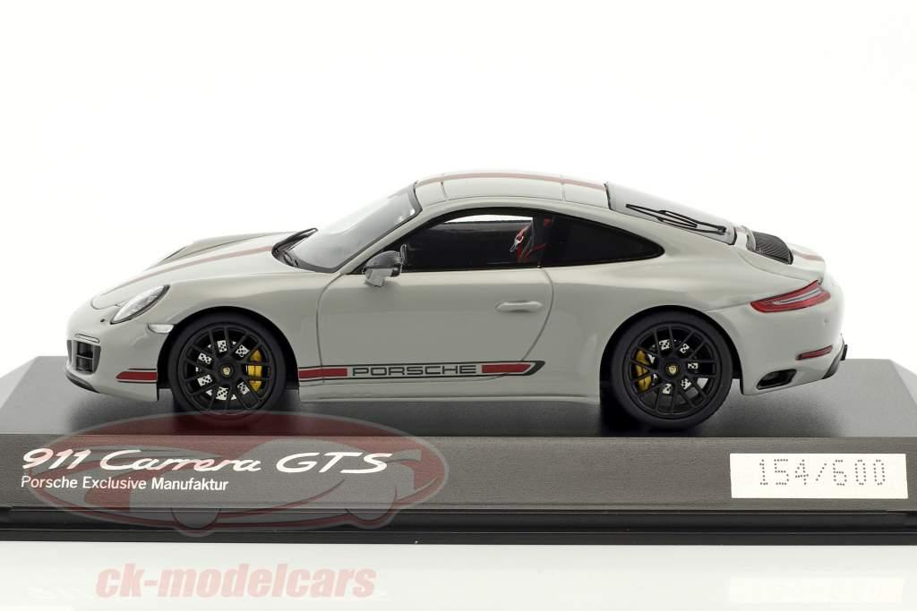 Porsche 911 (991) Carrera GTS gris / rouge 1:43 Spark