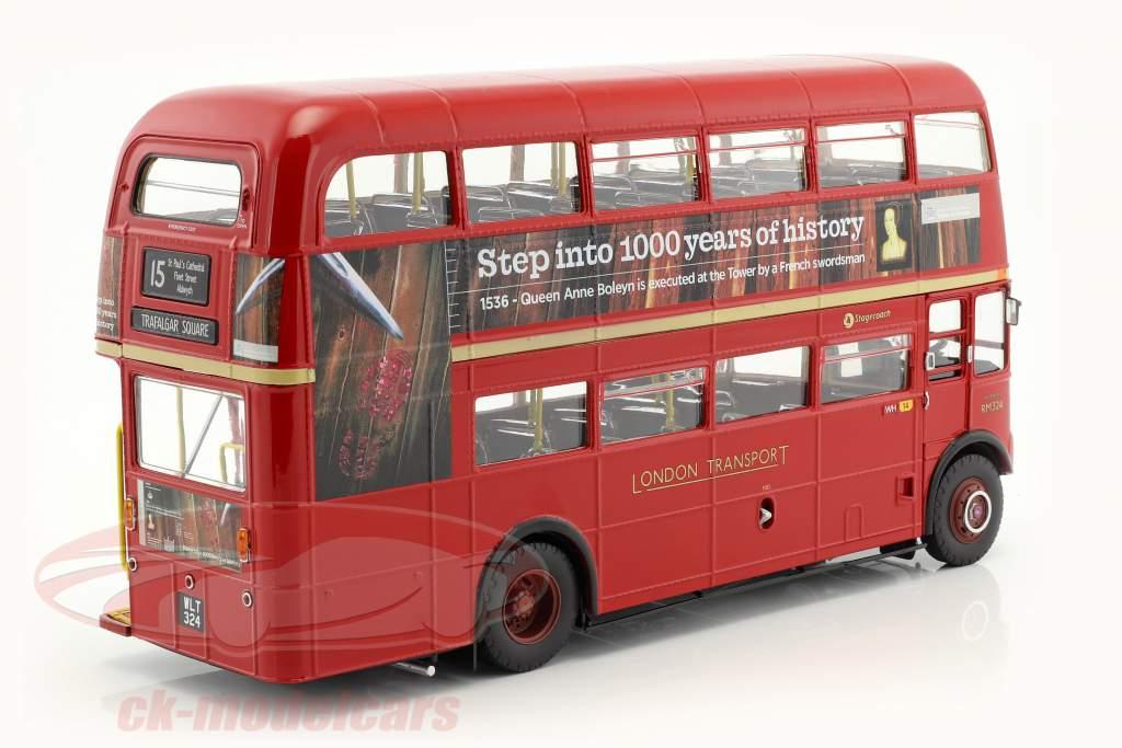 Routemaster London Bus RM324 année de construction 1983 rouge 1:24 SunStar