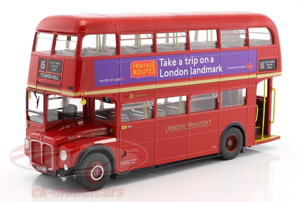 Routemaster London Bus RM2089 année de construction 1983 rouge 1:24 SunStar