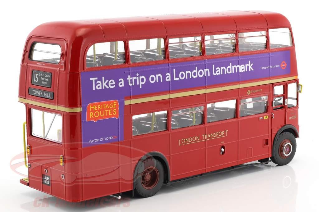 Routemaster London Bus RM2089 anno di costruzione 1983 rosso 1:24 SunStar