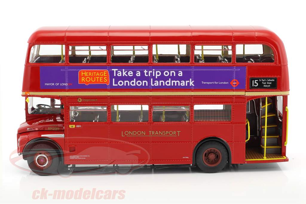 Routemaster London Bus RM2089 année de construction 1983 rouge 1:24 SunStar