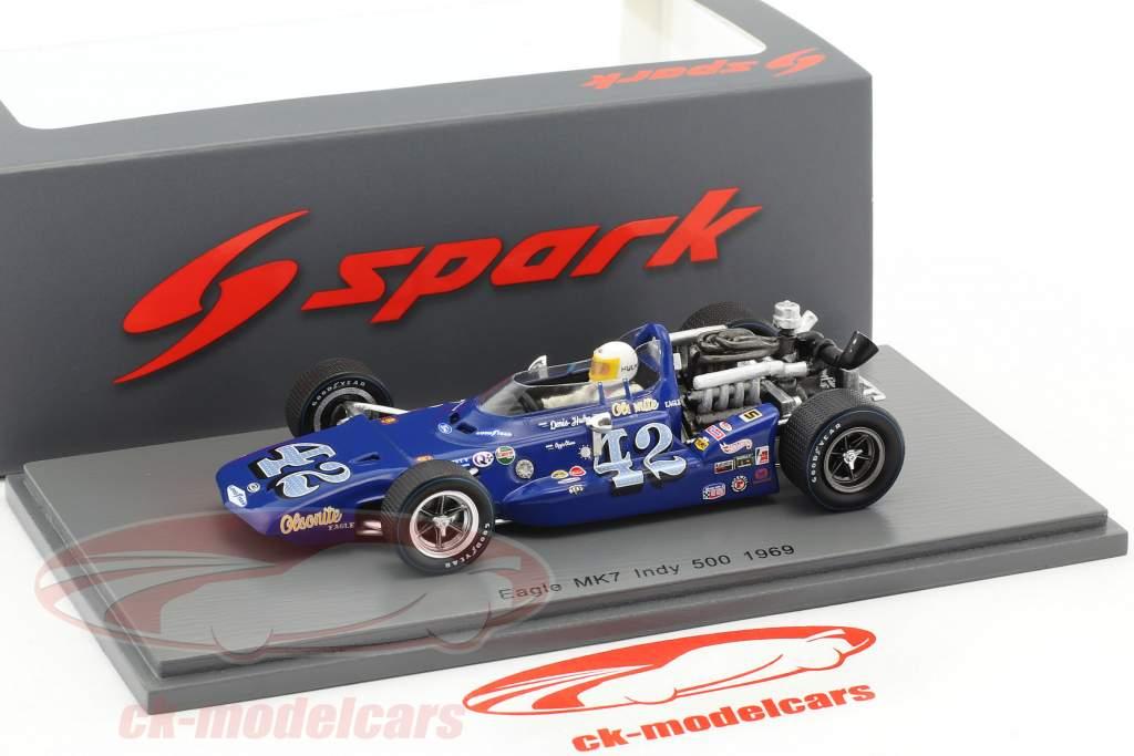 Denis Hulme Eagle Mk7 #42 Indy 500 1969 1:43 Spark