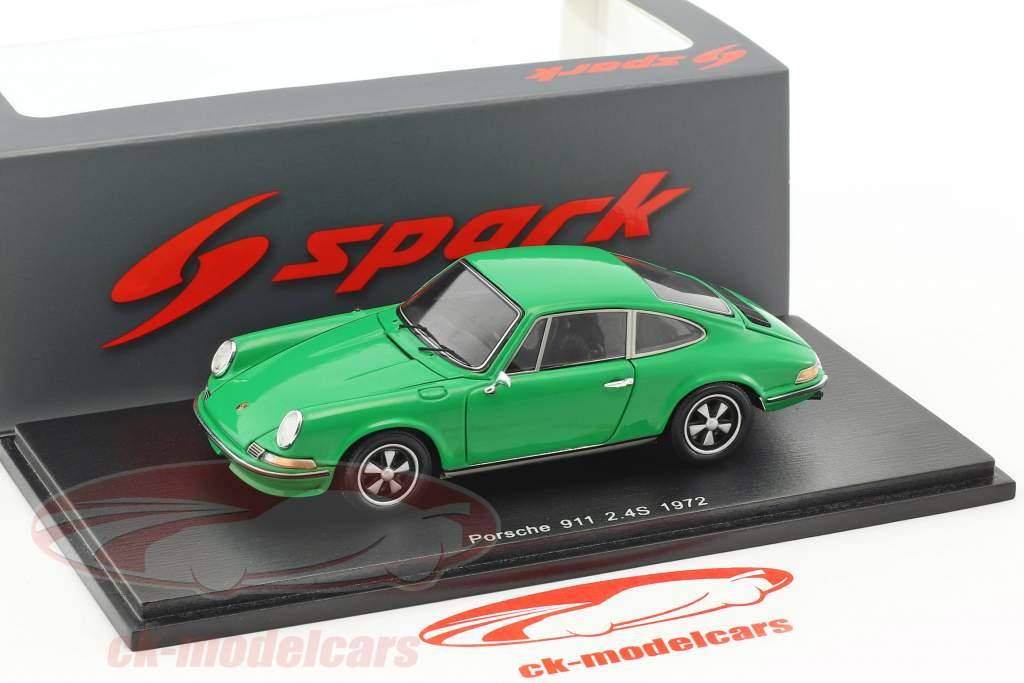 Porsche 911 2.4S year 1972 green 1:43 Spark