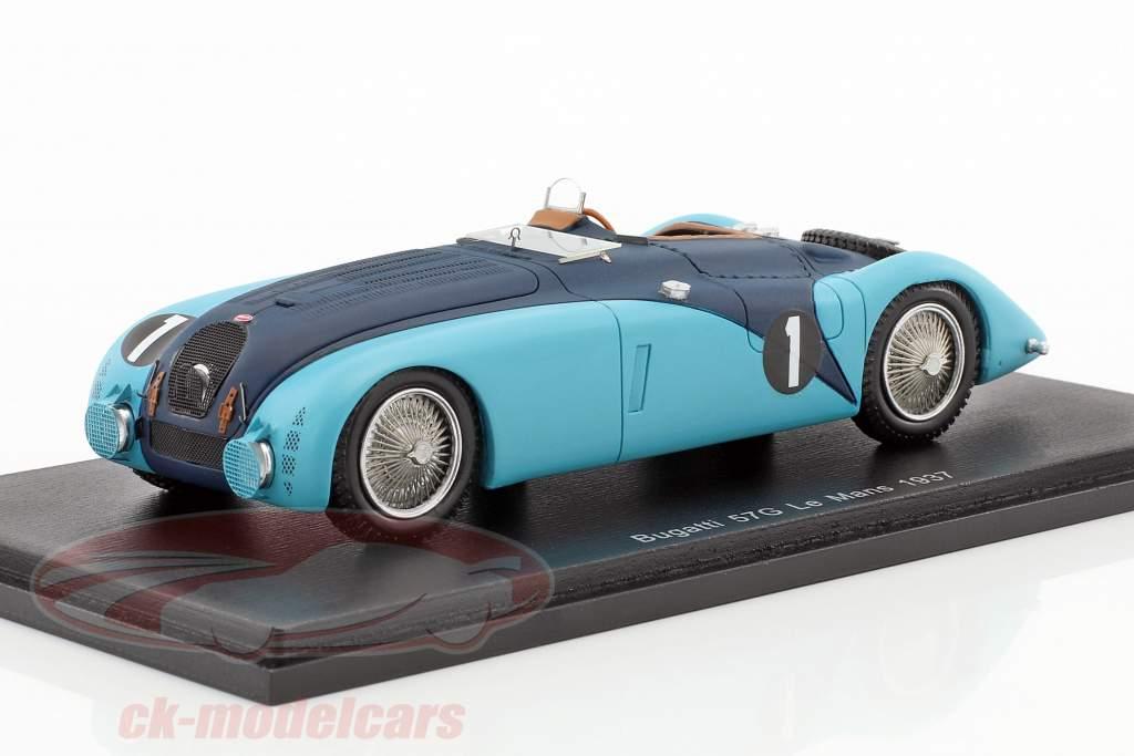 Bugatti 57G #1 24h LeMans 1937 Labric, Veyron 1:43 Spark
