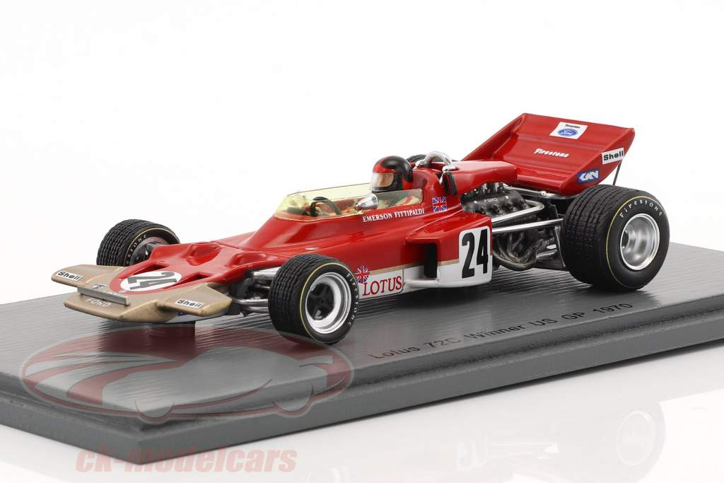 Emerson Fittipaldi Lotus 72C #24 Winner USA GP formula 1 1970 1:43 Spark
